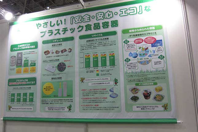 エコプロ2018「日本プラスチック食品容器工業会」の展示