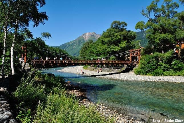 上高地のおすすめ観光スポット「河童橋」