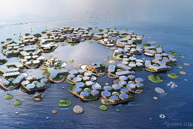 水上都市の計画に国連注目!温暖化が進んだ未来は海上で生活か?