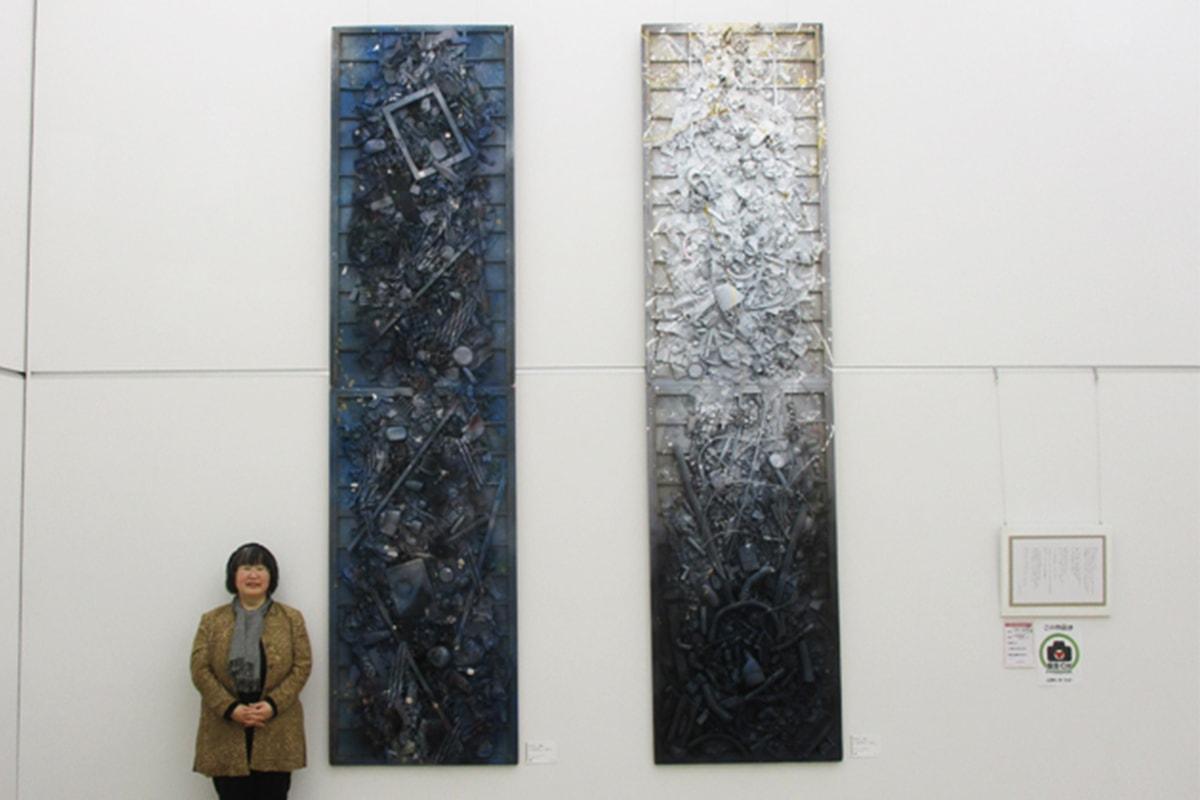 再生アーティスト いなずみくみこ/廃棄物を使う芸術家のご紹介